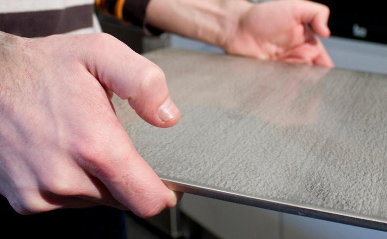 grosor de la plancha de acero para hornear